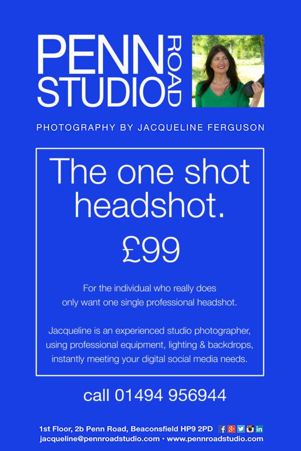 One Shot Headshot <br>Photography